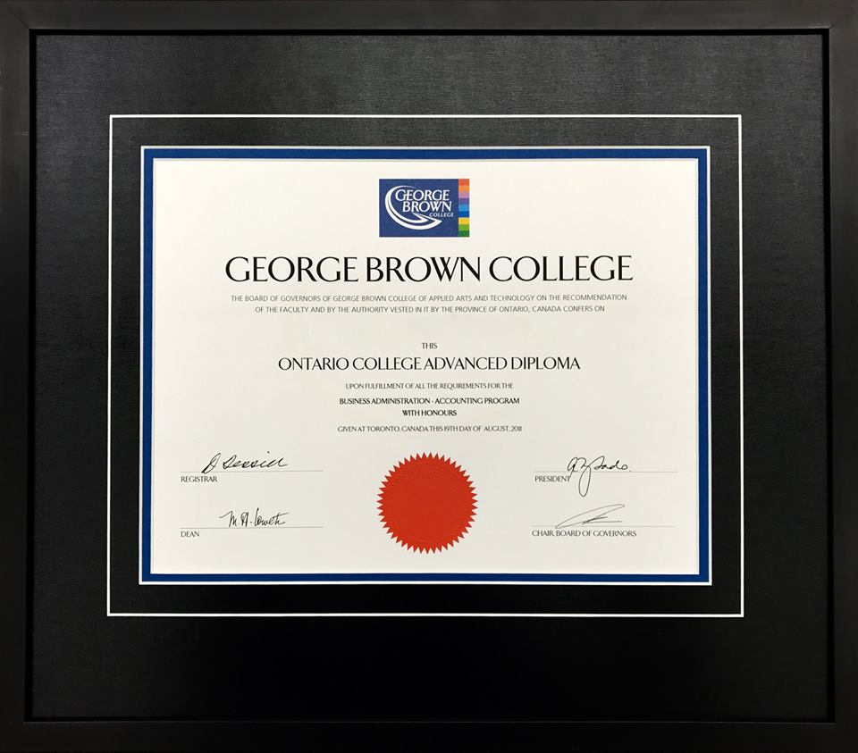 Diploma Degree Framing